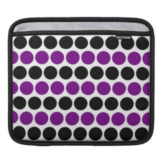 Retro Purple Polka Dot Pattern Sleeve For iPads