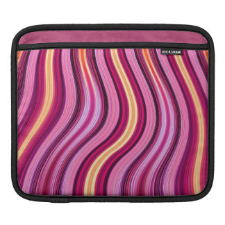 retro purple stripes pattern ipad sleeve