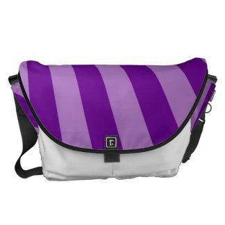 Retro Purple Sun Rays Background Courier Bag