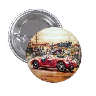 Retro racing car painting 3 cm round badge