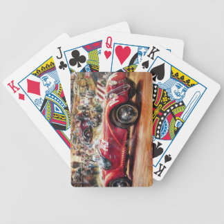 Retro racing car painting bicycle poker cards