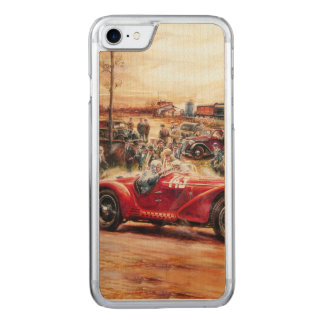 Retro racing car painting carved iPhone 7 case
