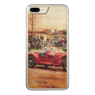 Retro racing car painting carved iPhone 7 plus case