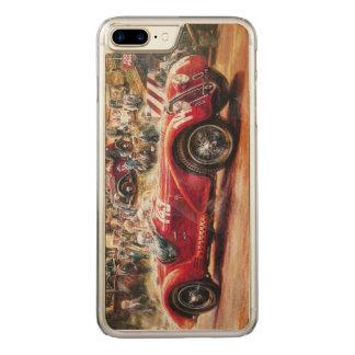 Retro racing car painting carved iPhone 8 plus/7 plus case