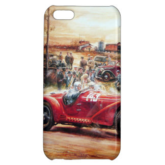 Retro racing car painting case for iPhone 5C