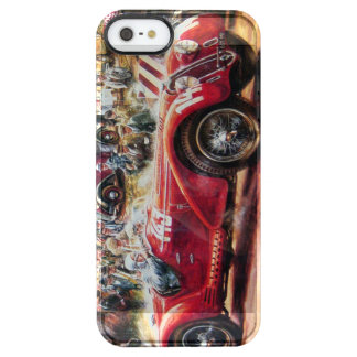 Retro racing car painting clear iPhone SE/5/5s case