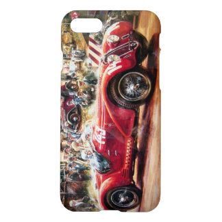 Retro racing car painting iPhone 7 case