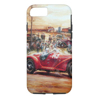 Retro racing car painting iPhone 7 case