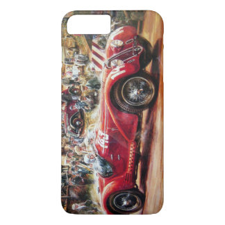 Retro racing car painting iPhone 7 plus case