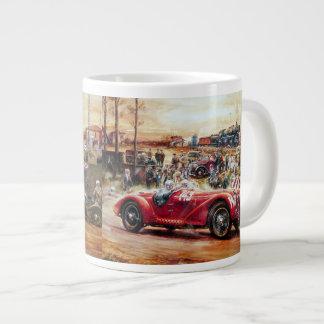 Retro racing car painting jumbo mug