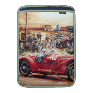Retro racing car painting MacBook sleeve