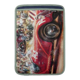 Retro racing car painting MacBook sleeves