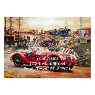 Retro racing car painting pack of chubby business cards