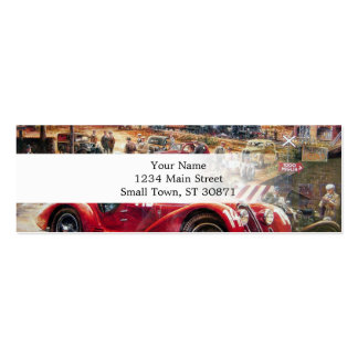 Retro racing car painting pack of skinny business cards