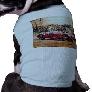 Retro racing car painting sleeveless dog shirt