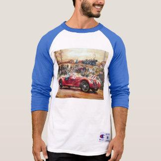 Retro racing car painting t-shirt