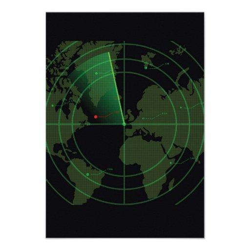 Retro Radar Screen Personalized Announcements