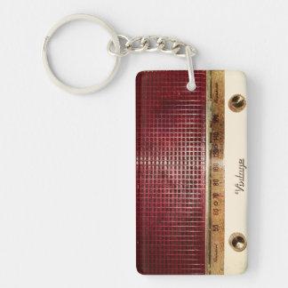 Retro radio key ring