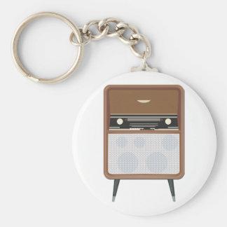 Retro Radio On Legs Keychain