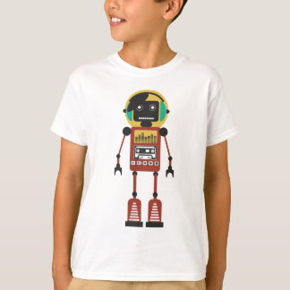 Retro Radio Robot T-Shirt