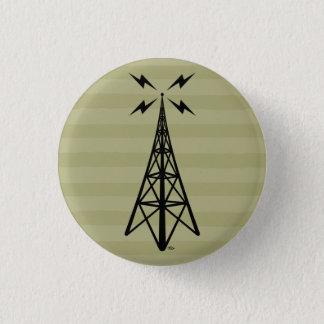 Retro Radio Tower 3 Cm Round Badge