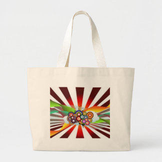 Retro Rainbow Canvas Bag