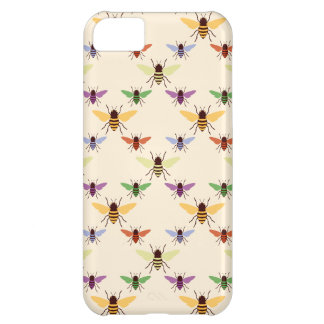 Retro rainbow bees bumblebees nature pattern iPhone 5C case