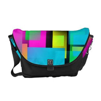 Retro Rainbow Block Pattern Courier Bag