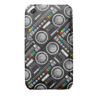 retro rainbow boombox ghetto blaster craze iPhone 3 cases