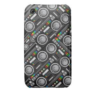 retro rainbow boombox ghetto blaster craze Case-Mate iPhone 3 case