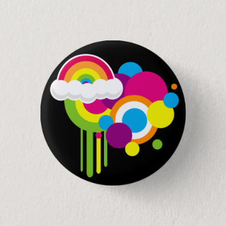 Retro Rainbow Button (Black)
