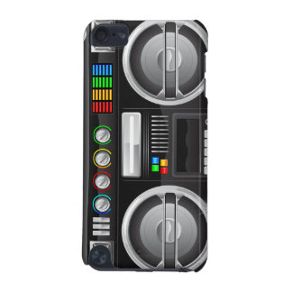 retro rainbow buttons boombox ghetto blaster iPod touch 5G case