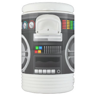 retro rainbow buttons boombox ghetto blaster igloo beverage dispenser