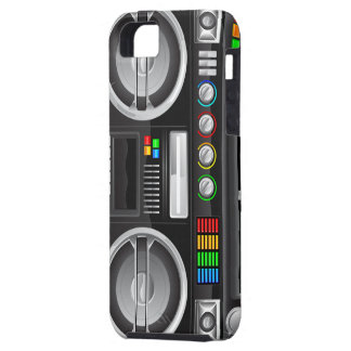 retro rainbow buttons boombox ghetto blaster iPhone 5 cases