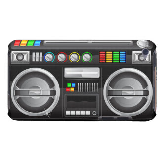 retro rainbow buttons boombox ghetto blaster iPod touch cases