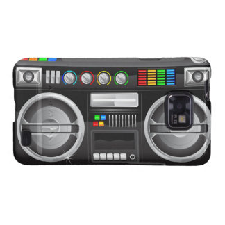retro rainbow buttons boombox ghetto master galaxy SII cover