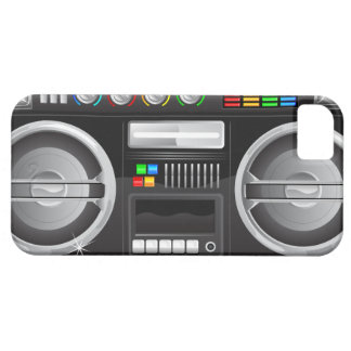 retro rainbow buttons boombox ghetto master case for the iPhone 5
