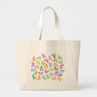 Retro Rainbow Chicks Cute Custom Gift Tote / Bag