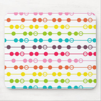 Retro Rainbow Circles Pattern Mousepads
