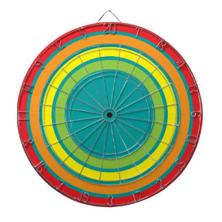 retro rainbow dartboard