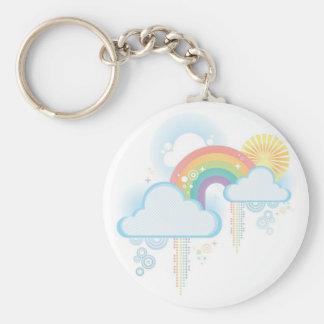 Retro Rainbow Design - Pastel Keychains