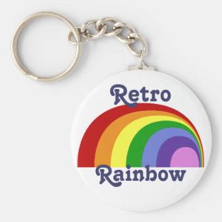 Retro Rainbow Keychain
