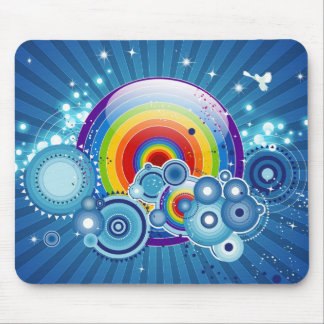 Retro rainbow mousepad
