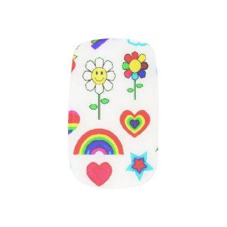 Retro Rainbow Nail Sticker