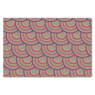 Retro Rainbow Psychedelic Circles Pattern Tissue Paper
