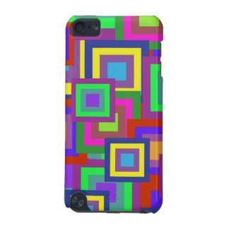 Retro Rainbow Squares Pattern iPod Touch (5th Generation) Case