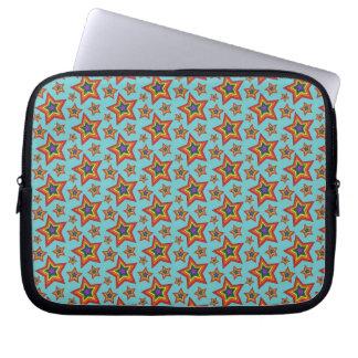 Retro Rainbow Stars Pattern Laptop Computer Sleeve
