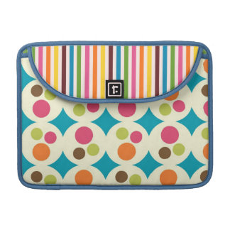 retro rainbow stripes and dots sleeve for MacBook pro