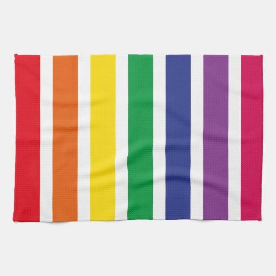 Retro RAINBOW Stripes Kitchen Towel