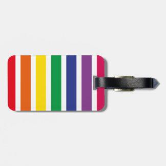 Retro RAINBOW Stripes Luggage Tags
